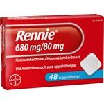 Rennie tuggtablett 680 mg/80 mg 48 st