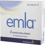 Emla medicinskt plåster 25 mg/25 mg 2 st