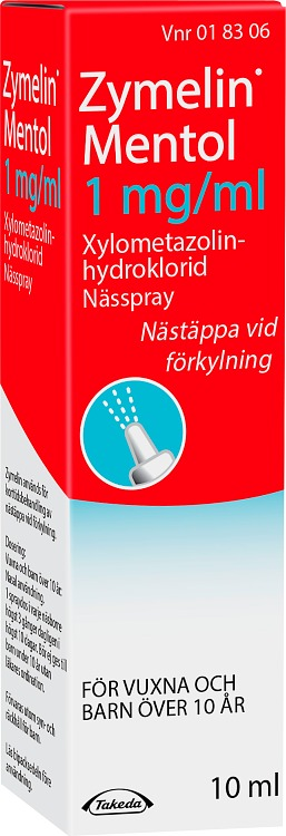 Zymelin Mentol nässpray 1 mg/ml 10 ml