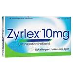 Zyrlex filmdragerad tablett 10 mg 14 st