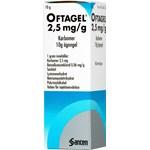 Oftagel ögongel 2,5 mg/g 10 g