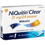 NiQuitin Clear depotplåster 21 mg/24 timmar 7 st