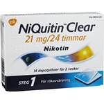 NiQuitin Clear depotplåster 21 mg/24 timmar 14 st