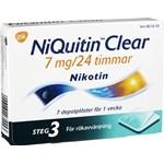 NiQuitin Clear depotplåster 7 mg/24 timmar 7 st