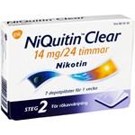 NiQuitin Clear depotplåster 14 mg/24 timmar 7 st
