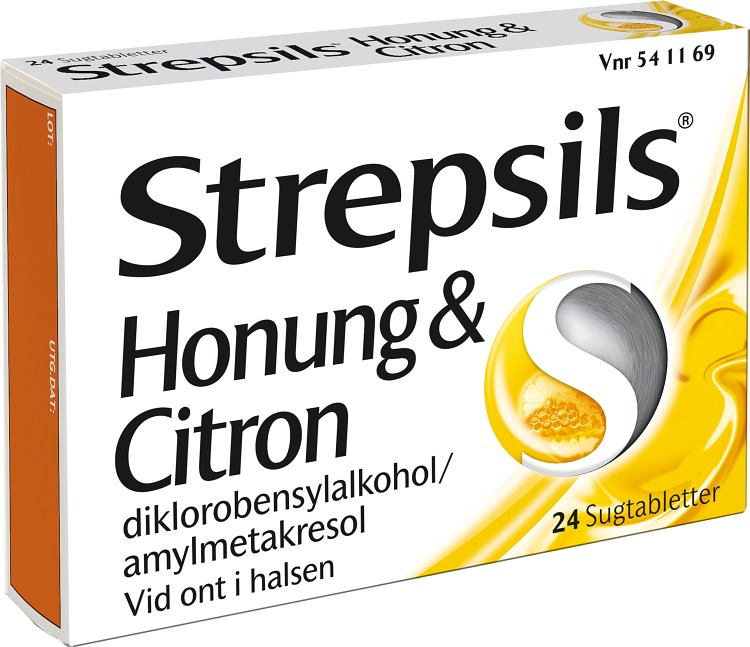 Strepsils Honung & Citron sugtablett 24 st