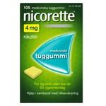Nicorette medicinskt tuggummi 4 mg 105 st