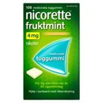 Nicorette Fruktmint medicinskt tuggummi 4 mg 105 st