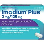 Imodium Plus tablett 2mg/125 mg 12 st