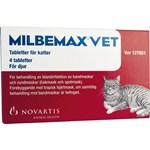 Milbemax vet. för katter tablett 4 st
