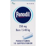 Panodil suppositorium 250 mg 10 st