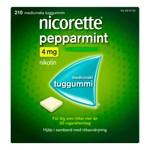 Nicorette Pepparmint medicinskt tuggummi 4 mg 210 st
