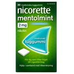 Nicorette Mentolmint medicinskt tuggummi 2 mg 30 st