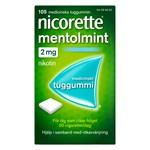 Nicorette Mentolmint medicinskt tuggummi 2 mg 105 st