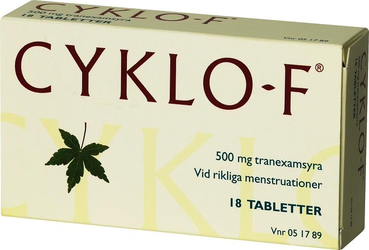 tabletter som minskar mens