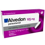 Alvedon suppositorium 125 mg 10 st