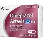 Omeprazol Actavis kapsel 20 mg 28 st