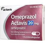 Omeprazol Actavis kapsel 20 mg 14 st