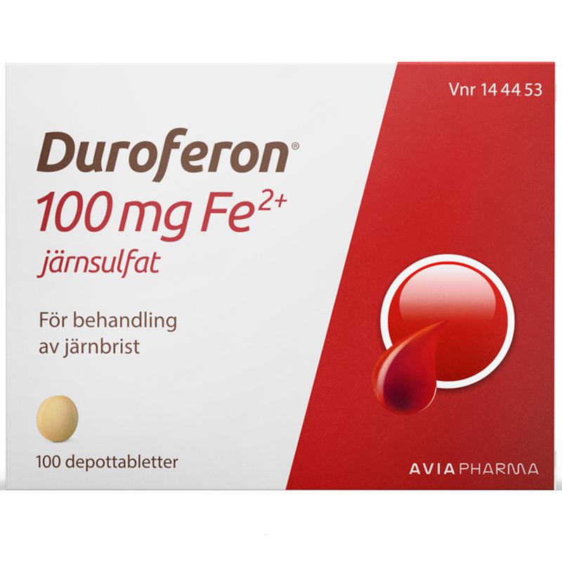 Duroferon depottablett 100 mg 100 st