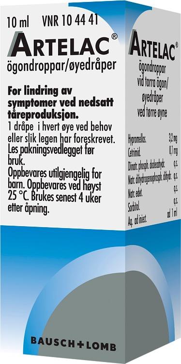 lomudal ögondroppar biverkningar