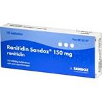 Ranitidin Sandoz filmdragerad tablett 150 mg 10 st