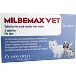 Milbemax vet. för små hundar och valpar tablett 2 st