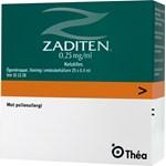Zaditen ögondroppar i endosbehållare 0,25 mg/ml 20x0,4 ml