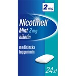 Nicotinell Mint medicinskt tuggummi 2 mg 24 st
