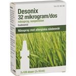 Desonix nässpray 32 µg/dos 3x120 doser