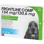 Frontline Comp Spot-on lösning för medelstor hund 134 mg/120,6 mg 3 x 1,34 ml