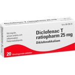 Diclofenac T ratiopharm filmdragerad tablett 25 mg 20 st