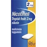 Nicotinell Tropisk frukt medicinskt tuggummi 2 mg 96 st