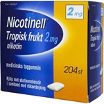 Nicotinell Tropisk frukt medicinskt tuggummi 2 mg 204 st