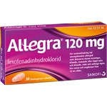 Allegra filmdragerad tablett 120 mg 30 st