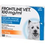 Frontline Vet. Spot-on lösning för hund max 10 kg 100 mg/ml 4 x 0,67 ml