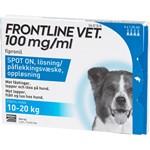 Frontline Vet. Spot-on lösning för hund 10-20 kg 100 mg/ml 4 x 1,34 ml