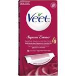 Veet Wax Strips Easy-Gelwax Technology Suprem'Essence Legs & Body 18 st