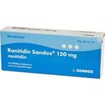 Ranitidin Sandoz filmdragerad tablett 150 mg 30 st