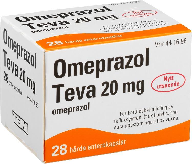 omeprazol receptfritt pris