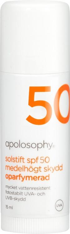 Apolosophy Solstift SPF 50 15 ml