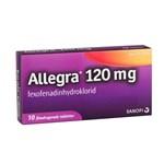 Allegra filmdragerad tablett 120 mg 10 st