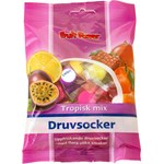 FruitPower druvsocker tropisk mix tablett 75 g