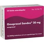 Omeprazol Sandoz enterokapsel 20 mg 28 st