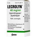 Lecrolyn ögondroppar 40 mg/ml 5 ml