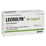 Lecrolyn ögondroppar i endosbehållare 40 mg/ml 60 st