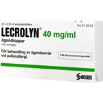 Lecrolyn ögondroppar 40mg/ml 20st