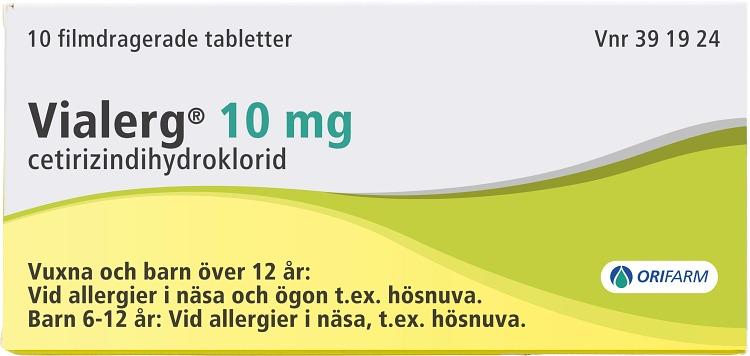 Vialerg filmdragerad tablett 10 mg 10 st