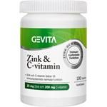 Gevita Zink & C-vitamin 100 tabletter