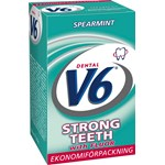 V6 Strongteeth Spearmint tuggummi 70g