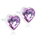 Blomdahl Örhängen Heart Light Amethyst 6 mm